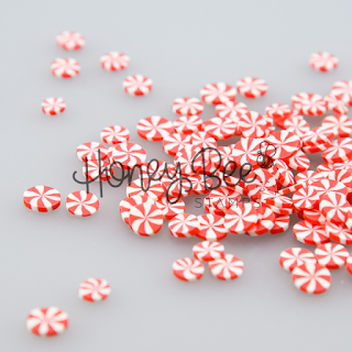 PEPPERMINT SWIRL Clay Bits