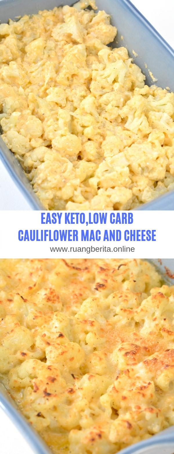 EASY KETO,LOW CARB CAULIFLOWER MAC AND CHEESE
