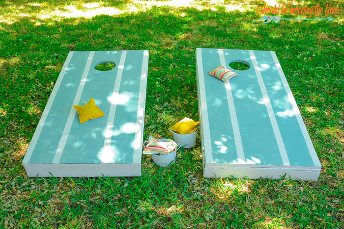 DIY Cornhole Bags and Boards