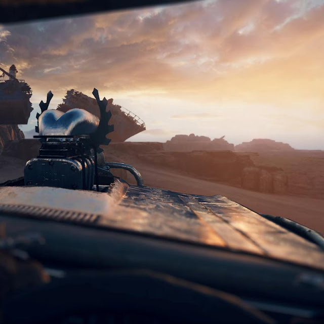 Mad Max PC IG Driver's View at Sunrise Wallpaper Engine