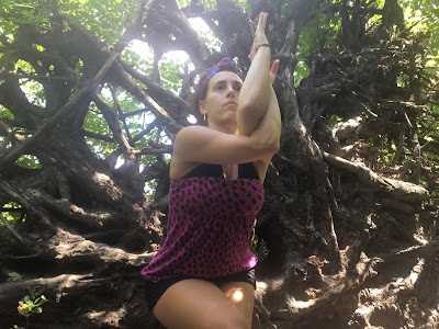 Loretta DeStefano Micarelli outdoor yoga pose conscious living for you parvin