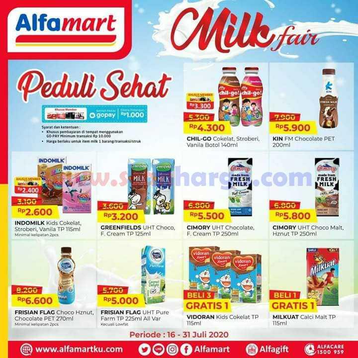 Promo Alfamart Milk Fair Terbaru Periode 16 - 31 Juli 2020