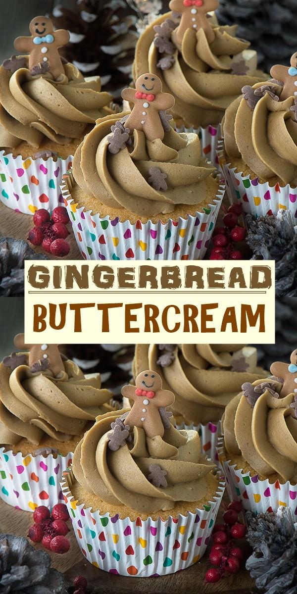 GINGERBREAD BUTTERCREAM #cupcakerecipes