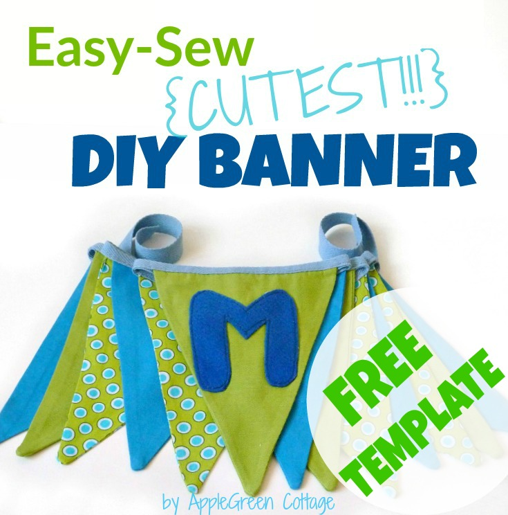 Bunting Banner Tutorial And Free PDF Template
