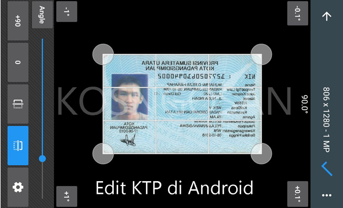 edit ktp android