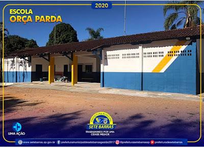 Prefeitura de Sete Barras reforma escola do Bairro Onça Parda.