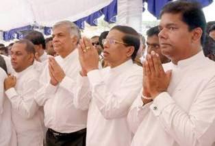 President enshrines sacred relics at Moragahakanda Dam