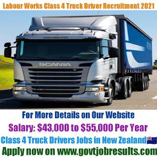 Labour Works Class 4 Truck Driver Recruitment 2021-22
