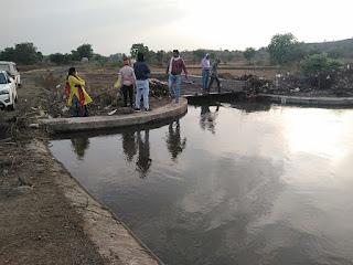 रिपेरिंग के बाद पानी छोड़ा गया