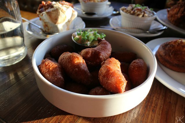 hush puppies in a white bowl