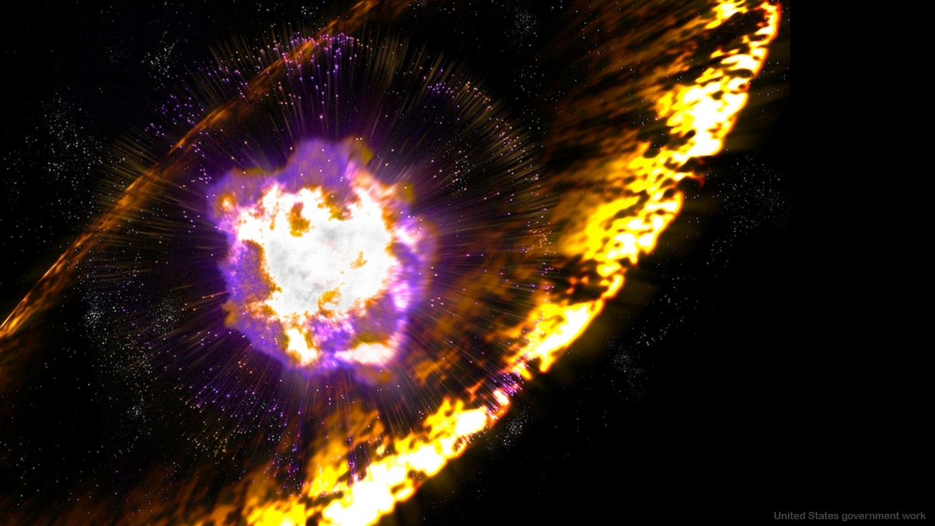 Supernova Explosion Google Slides themes background