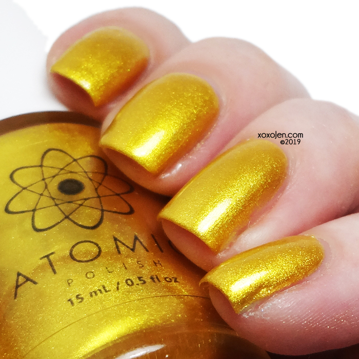 xoxoJen's swatch of Atomic AU (Gold)