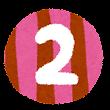 数字 3 イラスト文字