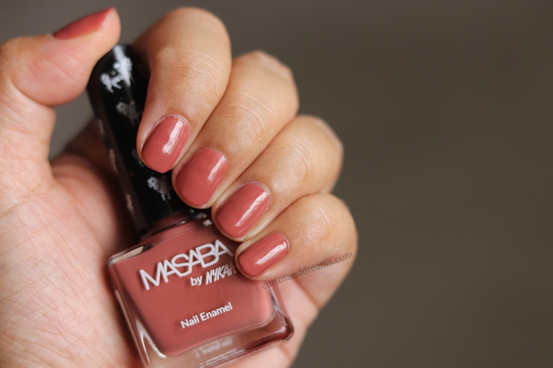 Masaba by Nykaa Nail Enamel Review & Swatches, Masaba by Nykaa Nail Enamel Rawr