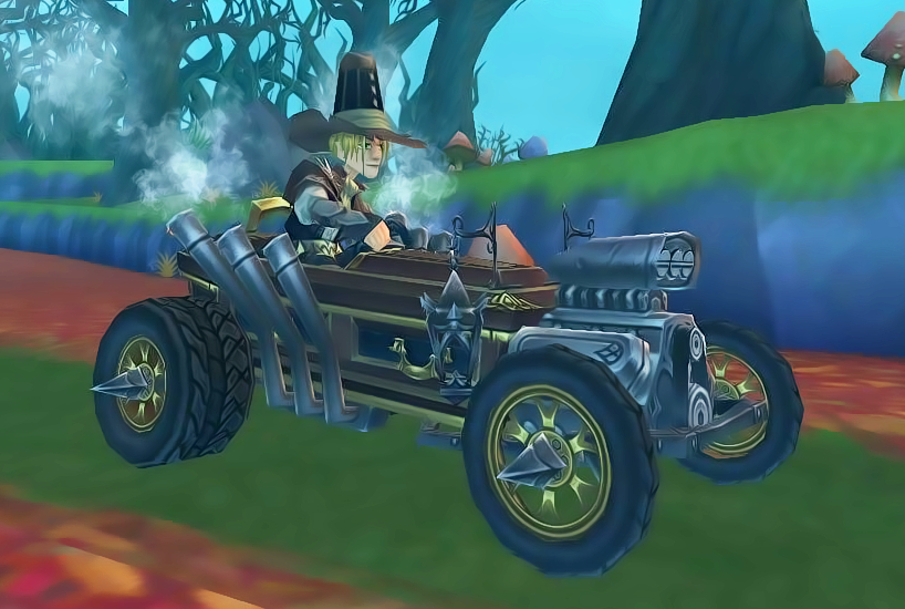 Wizard101 Witch Hunter's Bundle Darkmoor Car Mount Midnight Rider