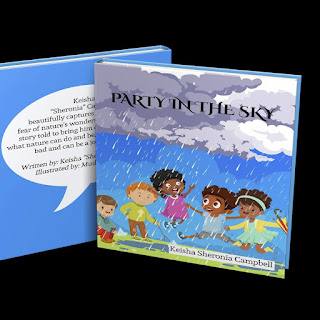 party in the sky book, Keisha Sheronia Campbell, nature picture book, fear of rain, help kids overcome fear, importance of nature, nature for kids, picture book for kids