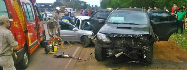 Ivaiporã: Duas pessoas morrem em acidente na PR-466