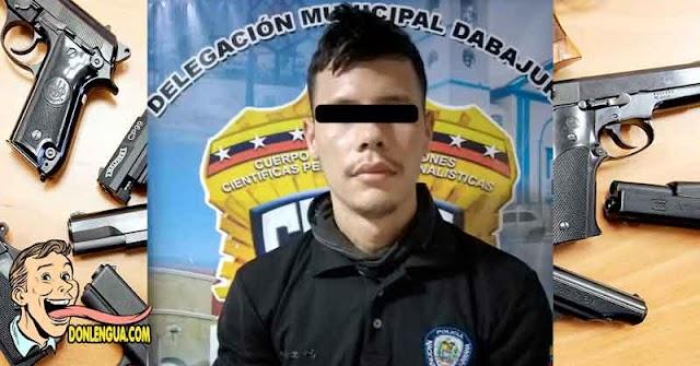 CICPC dice que este delincuente de la PNB no es de la PNB y quedó detenido
