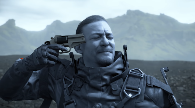 Death Stranding trailer gun pistol to the head suicide