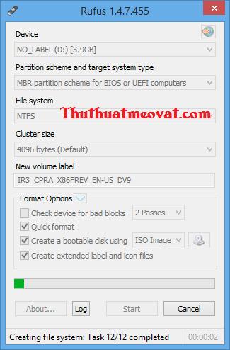 Tạo USB cài đặt Windows XP/7/8/8.1