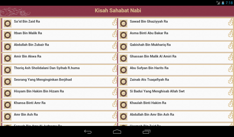 Download 200 + Kisah Sahabat Nabi Versi Hp