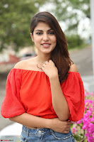 Rhea Chakraborty in Red Crop Top and Denim Shorts Spicy Pics ~  Exclusive 049.JPG