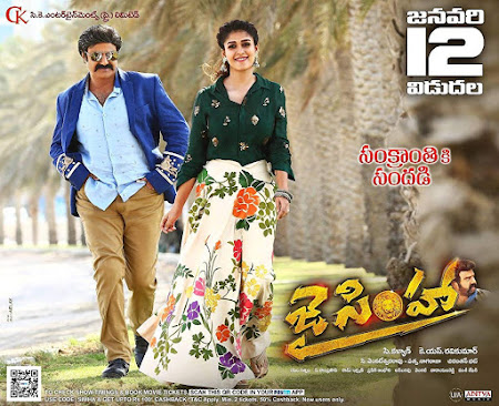 Poster Of Jai Simha In Dual Audio Hindi Telugu 300MB Compressed Small Size Pc Movie Free Download Only At worldfree4u.com