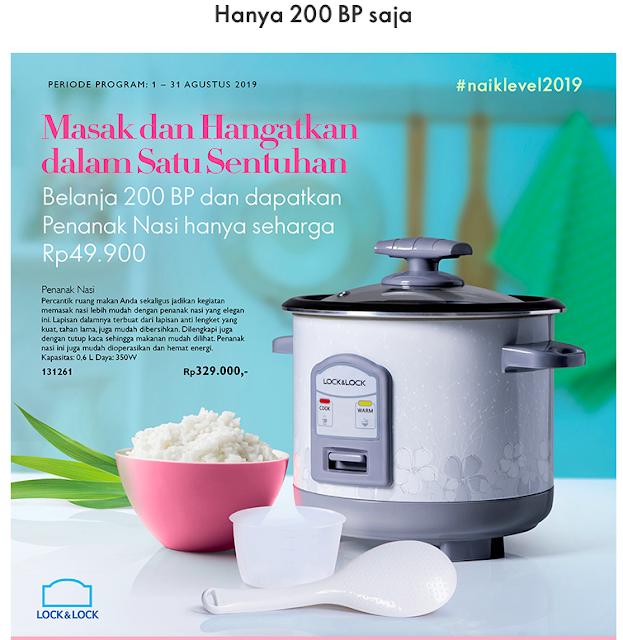 Promo Agustus 2019 : Hanya 200 BP saja, dapatkan Penanak Nasi Ini