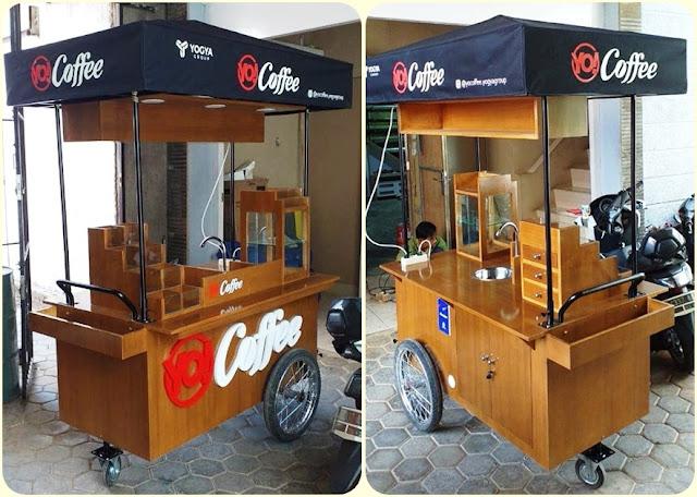 gerobak kopi,Gerobak kopi keliling,Gerobak sepeda kopi,Gerobak sepeda klasik