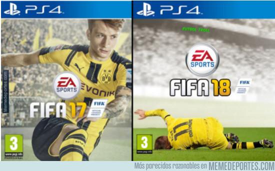 Así será la nueva portada del FIFA 18 marco reus