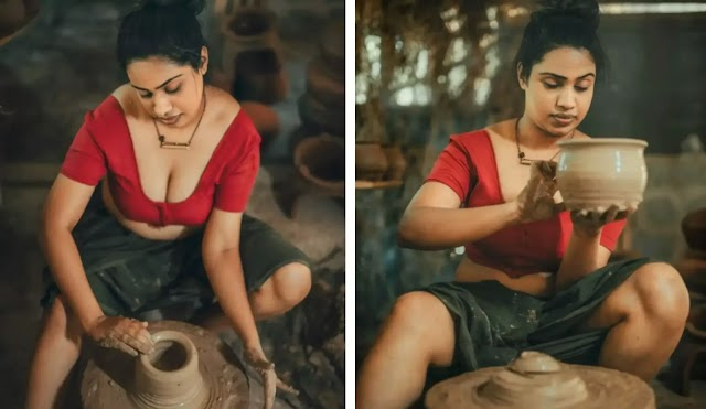 Pottery Making of this Glamorous Village Women is Trending on Social Media