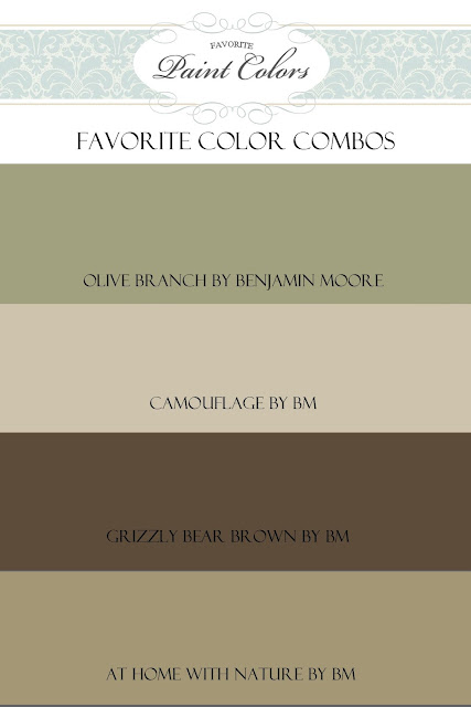 Olive Branch Color Combo Favorite Paint Colors Blog
