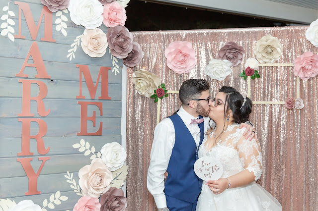Shenandoah Mill Wedding Bride and Groom Selfie Station by Micah Carling Photography