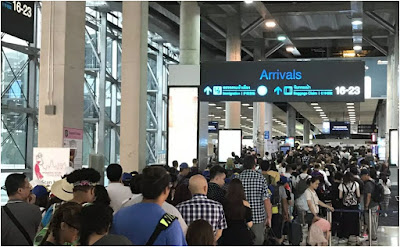 Getting through Immigration at Bangkok International Airport with a Big Family