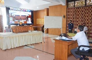 Bupati Batanghari Gelar Vidcon Bersama Bupati/Walikota Seluruh Provinsi Jambi
