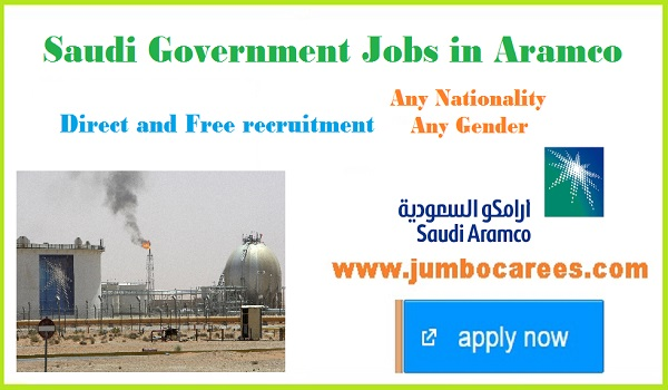 Latest Saudi Government Jobs in Aramco with Free Visa and