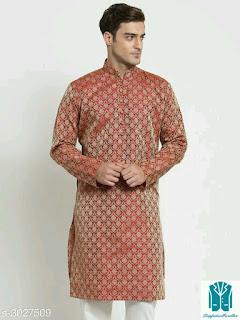 Elegant Ethnic Jacquard Men's Kurta