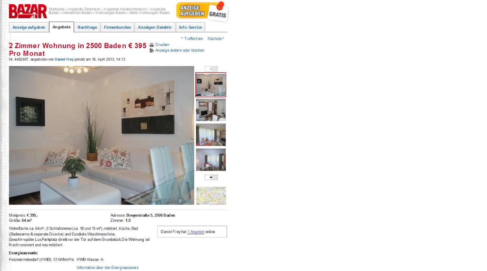 wohnungsbetrug.blogspot.com: 2 Zimmer Wohnung in 2500 ...