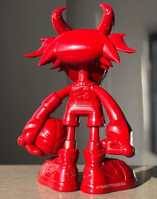 Designer Con 2019 Exclusive THE G.O.A.T. Chicago Red Edition Resin Figure by Tracy Tubera