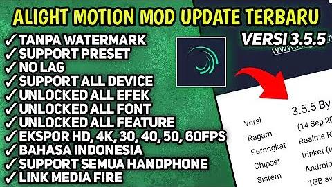Download Alight Motion Pro Mod Apk Versi Terbaru 3.5.5 Suport Preset XML