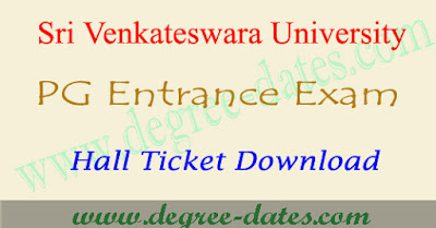 SVU CET hall tickets 2017 download svu pgcet results date
