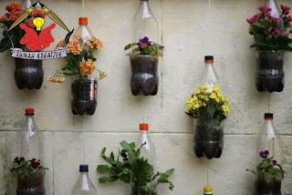 pot bunga dari botol