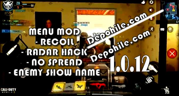 Call of Duty Mobile 1.0.12 Black Mod Radar, Sekmeme Hileli Apk