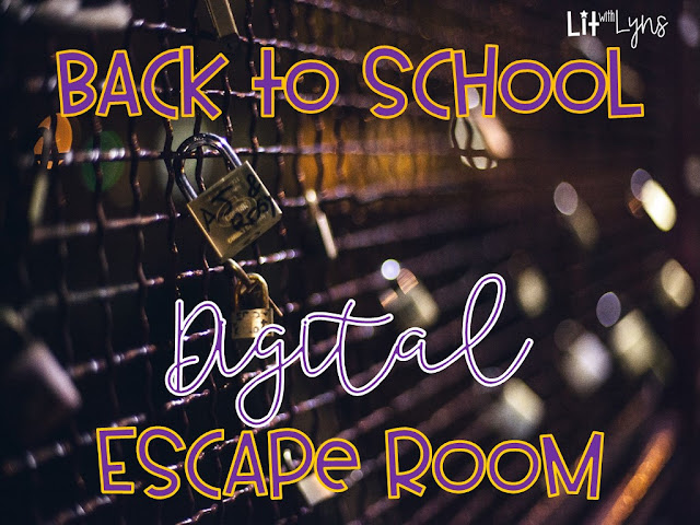 Back to School Digital Escape Room