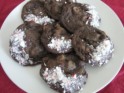 These peppermint mocha cookies are rich and chocolatey, and decorated with even more chocolate and crushed peppermint candy.