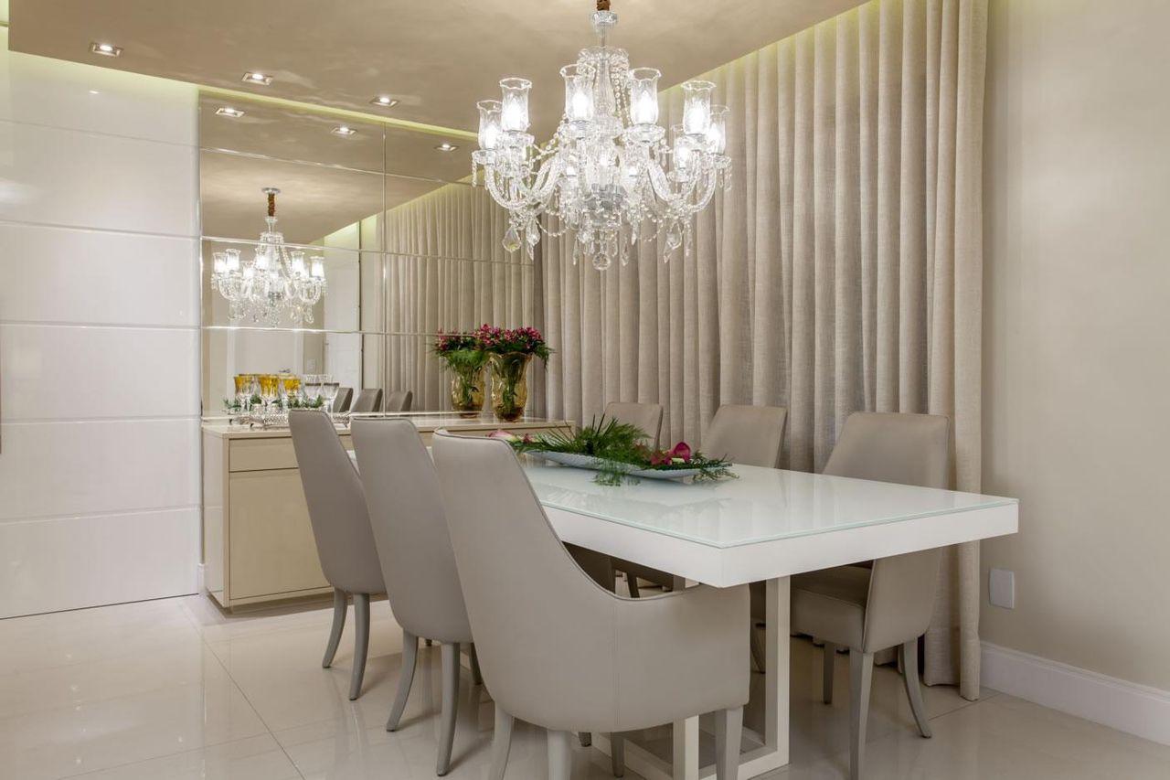 Construindo Minha Casa Clean Lustres Veja Dicas De Qual Ilumina O  -> Lustre Embutido Sala De Jantar