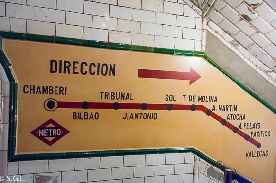 Estaciones metro Chamberi. Madrid