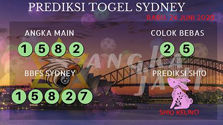 Prediksi Sydney Rabu 24 Juni 2020