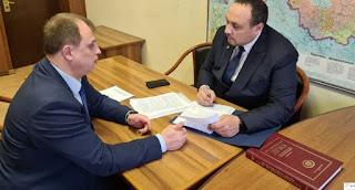 Депутат Сергей Вострецов и Сергей Гальченко