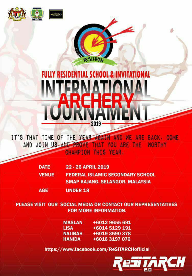 Official Invitation] International Archery Tournament 2019 in Kuala